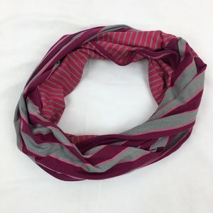 Lole Creation Infinity Scarf Pink Gray